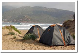 Nasze namioty na Sardynii w 2006
