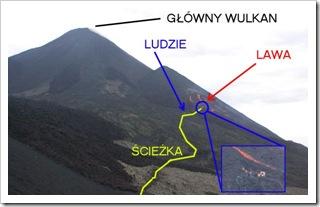 Mapka wulkanu Pacaya