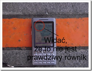 GPS na fałszywym równiku