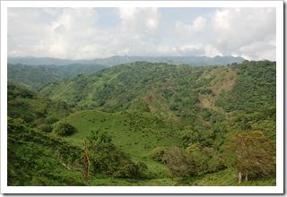 Widok z drogi do Monteverde