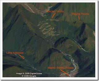 Machu Picchu z satelity