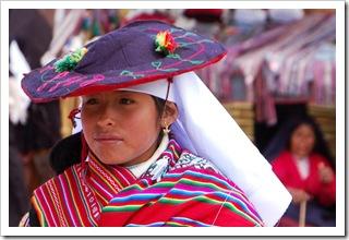 Odświętny strój na Taquile
