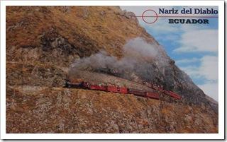 Pocztówka ze starym pociągiem