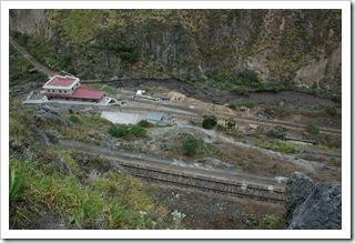 Stacja w Sibambe widziana z góry