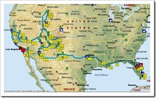 Planowany road trip przez USA