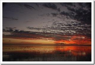 Zachód słońca widziany z naszej wyspy