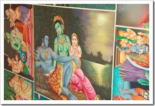 Zdobienia na świątyni hinduskiej w Nadi