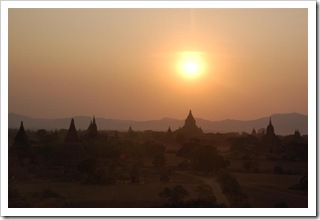 Bagan o zachodzie słońca