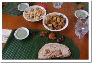Thali wersja ekologiczna z curry wegetariańskim