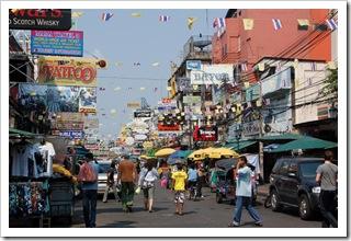 Ulica Khao San w Bangkoku (Tajlandia)