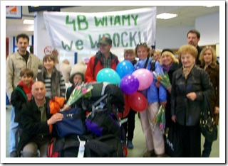 Powitanie na lotnisku